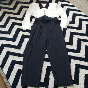 Menu vintage 80s 90s jumpsuit belt and pockets